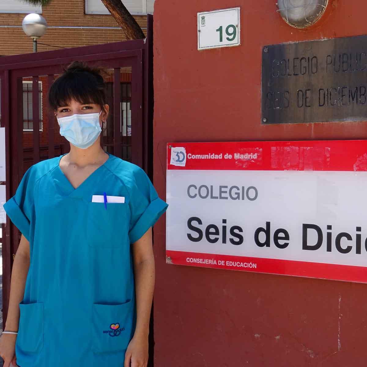 Enfermera Escolar en colegio