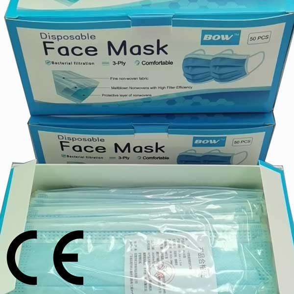 mascarilla tres capas con filtro de soplado homologada para el alumno y el profesor del colegio